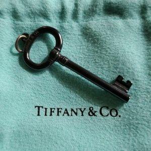 Tiffany & Co. Black titanium key pendant